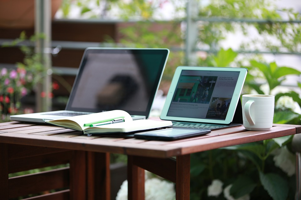 laptops on table